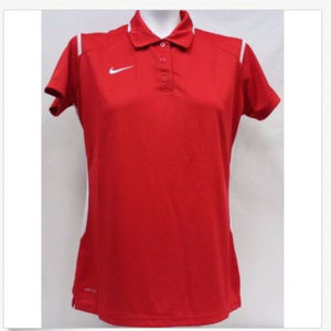 NWT XS Scarlet Red Nike Polo X-Small